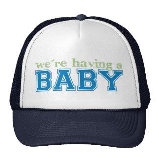 Estamos teniendo un bebé gorros bordados