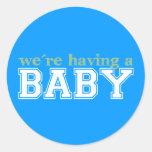 ¡Estamos teniendo un bebé! Pegatinas Redondas