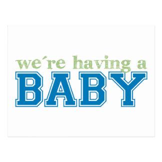 ¡Estamos teniendo un bebé! Postal