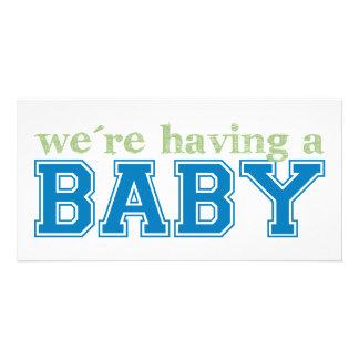 ¡Estamos teniendo un bebé! Tarjetas Personales Con Fotos