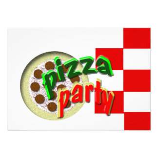 ¡Estamos teniendo un fiesta de la pizza!!!! Invitacion Personal