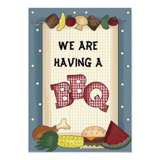 Estamos teniendo una invitación del Bbq Invitación 12,7 X 17,8 Cm