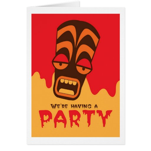Estamos teniendo una máscara del GRITO del fiesta  Tarjeta De Felicitación
