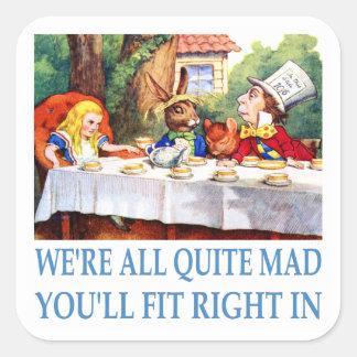 Estamos todo el muy enojados, usted cabremos a la pegatina cuadrada