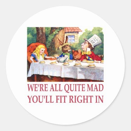 ¡Estamos todo el muy enojados, usted cabremos a la Pegatina Redonda