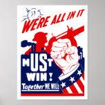 Estamos todos en él -- WWII Póster