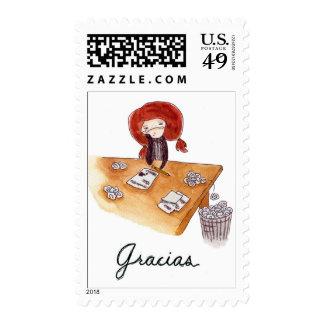 Estampa de Gracias Postage Stamps