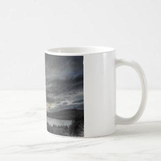 Estampa invernal taza clásica