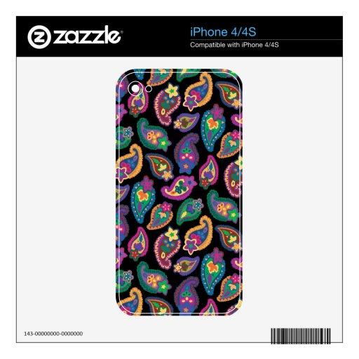 Estampado brillante calcomanías para iPhone 4