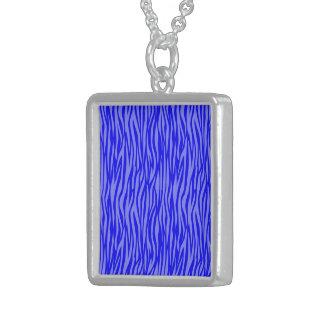 estampado de animales abstracto, azul colgante cuadrado