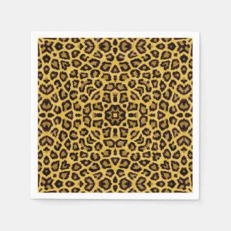 Estampado de animales abstracto del guepardo del servilleta de papel