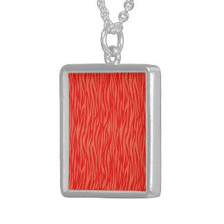 estampado de animales abstracto, rojo colgante cuadrado