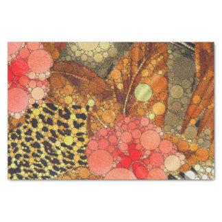 Estampado de animales abstracto único papel de seda