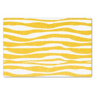 Estampado de animales amarillo de oro de la cebra papel de seda pequeño