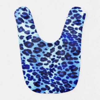 Estampado de animales azul abstracto del guepardo baberos para bebé