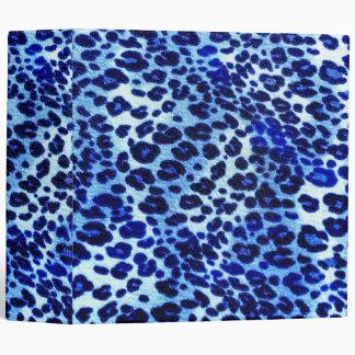 """Estampado de animales azul abstracto del guepardo carpeta 2"""""""