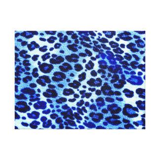 Estampado de animales azul abstracto del guepardo lienzo envuelto para galerías