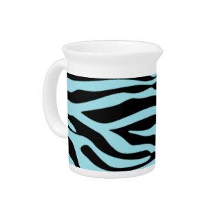 Estampado de animales azul de la cebra de la venti jarra de beber