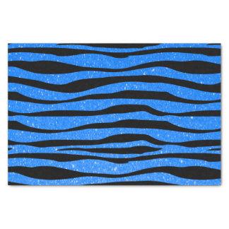 Estampado de animales azul medio suave de la cebra papel de seda pequeño