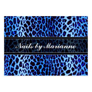 Estampado de animales azul personalizado del tarjetas de visita grandes