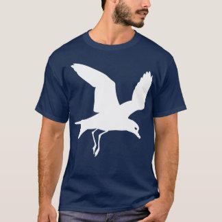 Estampado de animales blanco del pájaro del petrel playera