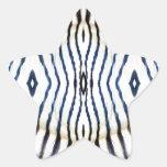 Estampado de animales - cebra calcomanía forma de estrellae