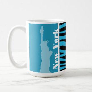 Estampado de animales cerúleo brillante de la cebr taza de café