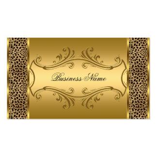 Estampado de animales con clase elegante del leopa tarjetas de visita