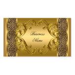 Estampado de animales con clase elegante del leopa plantilla de tarjeta de negocio