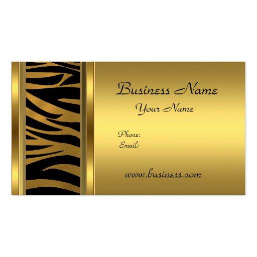 Estampado de animales con clase elegante del negro plantilla de tarjeta de negocio