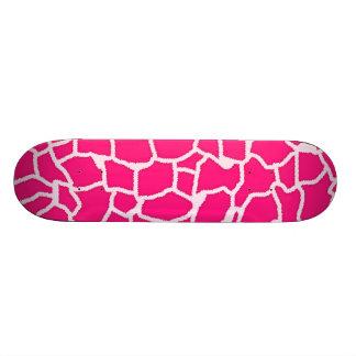 Estampado de animales de color rosa oscuro de la j tabla de skate