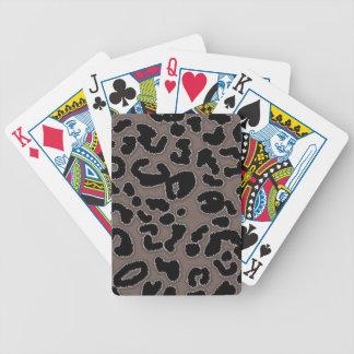Estampado de animales de color topo profundo del l barajas de cartas