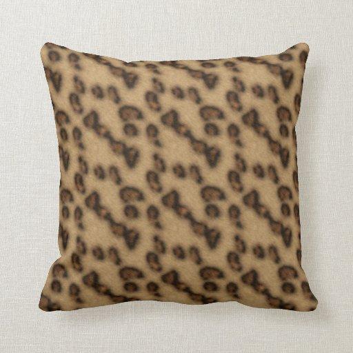 Estampado de animales de la piel del guepardo cojín