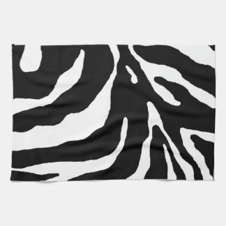 Estampado de animales de la raya de la cebra toallas de mano