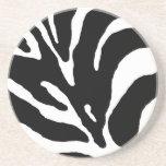 Estampado de animales de la raya de la cebra posavasos personalizados