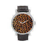Estampado de animales del leopardo 2 reloj