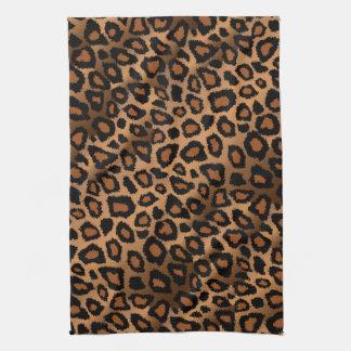 Estampado de animales del leopardo de Brown del Toalla De Cocina