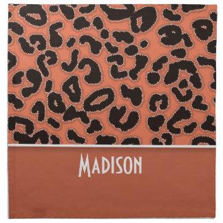 Estampado de animales del leopardo de la tierra de servilletas de papel