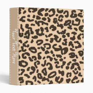 """Estampado de animales del leopardo del color de la carpeta 1"""""""