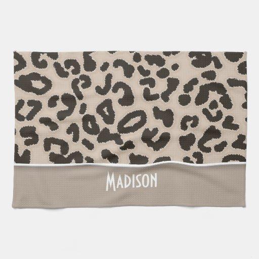 Estampado de animales del leopardo del color de la toallas