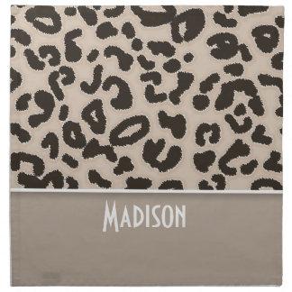 Estampado de animales del leopardo del color de la servilleta de papel