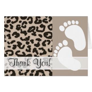 Estampado de animales del leopardo del color de la felicitaciones