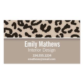Estampado de animales del leopardo del color de la tarjetas de visita