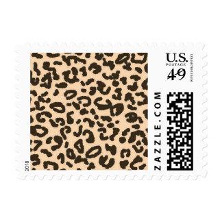 Estampado de animales del leopardo del color de la timbre postal