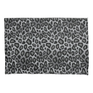 Estampado de animales del leopardo en gris funda de cojín