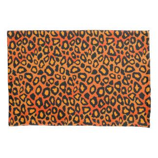 Estampado de animales del leopardo en naranja funda de cojín