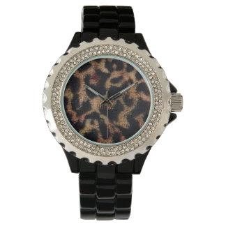 Estampado de animales del leopardo reloj