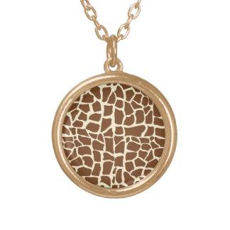 Estampado de animales del modelo de la jirafa pendiente