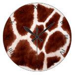 Estampado de animales del modelo de la jirafa con  reloj