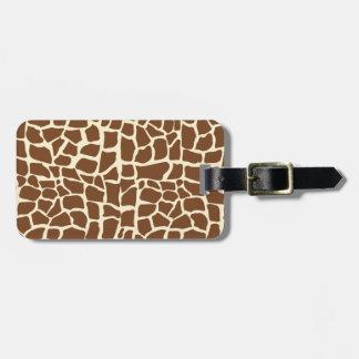 Estampado de animales del modelo de la jirafa etiquetas bolsas